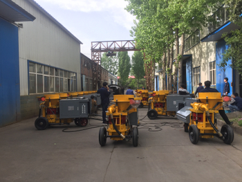 HS700 wet shotcrete machine serves for Zhehngzhou Railway